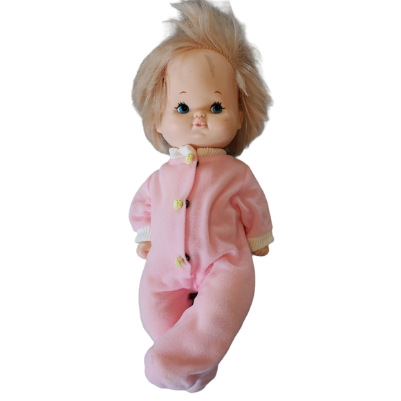 Vintage Playmates Baby Doll Girl Blonde Jointed